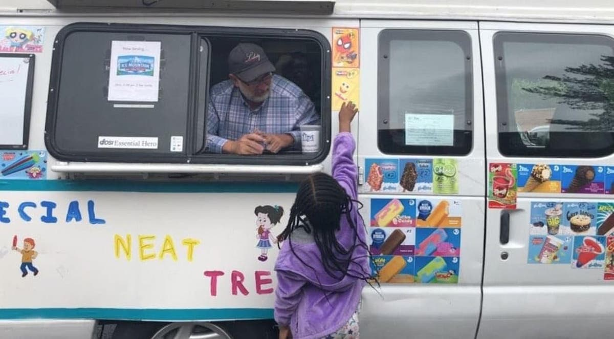 Dad buys ice cream truck for his children with Down's syndrome to run