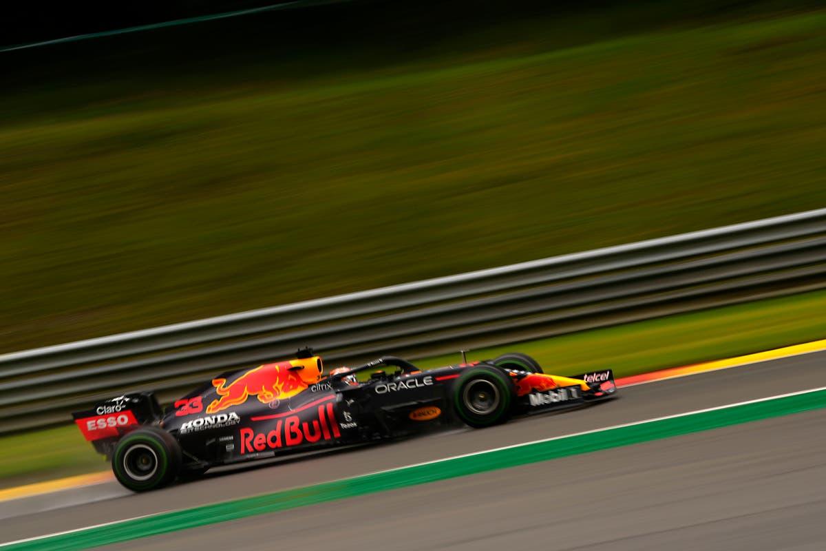Max Verstappen bounces back from crash to top Belgian Grand Prix final practice