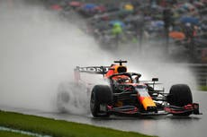 Max Verstappen pips George Russell to pole at rain-soaked Belgian Grand Prix