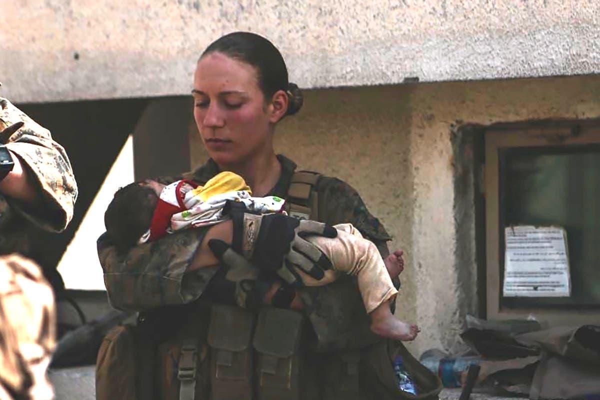 Slain Marine who cradled baby at Kabul airport loved her job