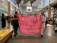 Dozens of Extinction Rebellion protesters enter Science Museum over Shell sponsorship