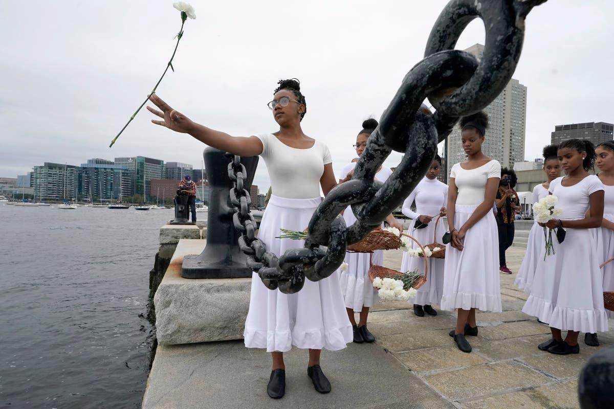 Marker honoring enslaved Africans dedicated in Boston