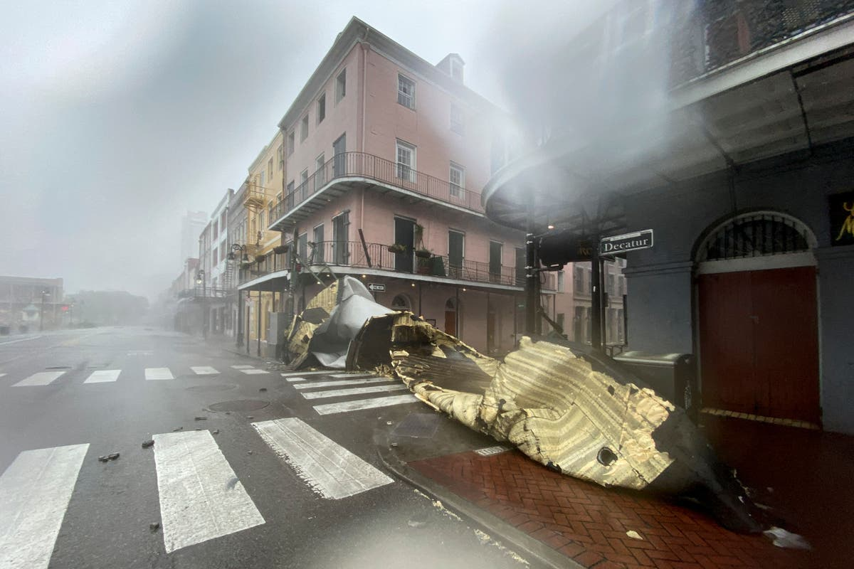 Hurricane Ida tears roof from hospital as New Orleans fights double catastrophe