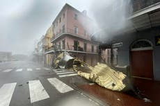 Hurricane Ida declared tropical storm as New Orleans left without power – follow live