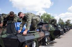 US donates 55 military vehicles to Kosovo