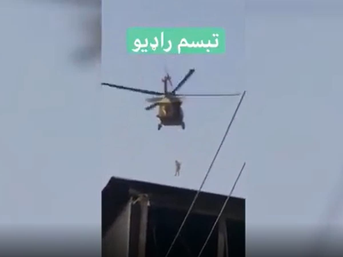 Taliban appear to fly US Black Hawk helicopters over Kandahar