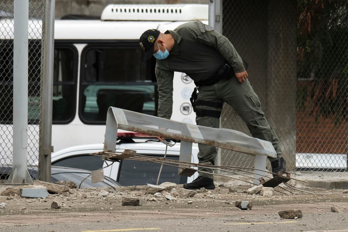 Explosion at Colombian police station leaves 13 injured