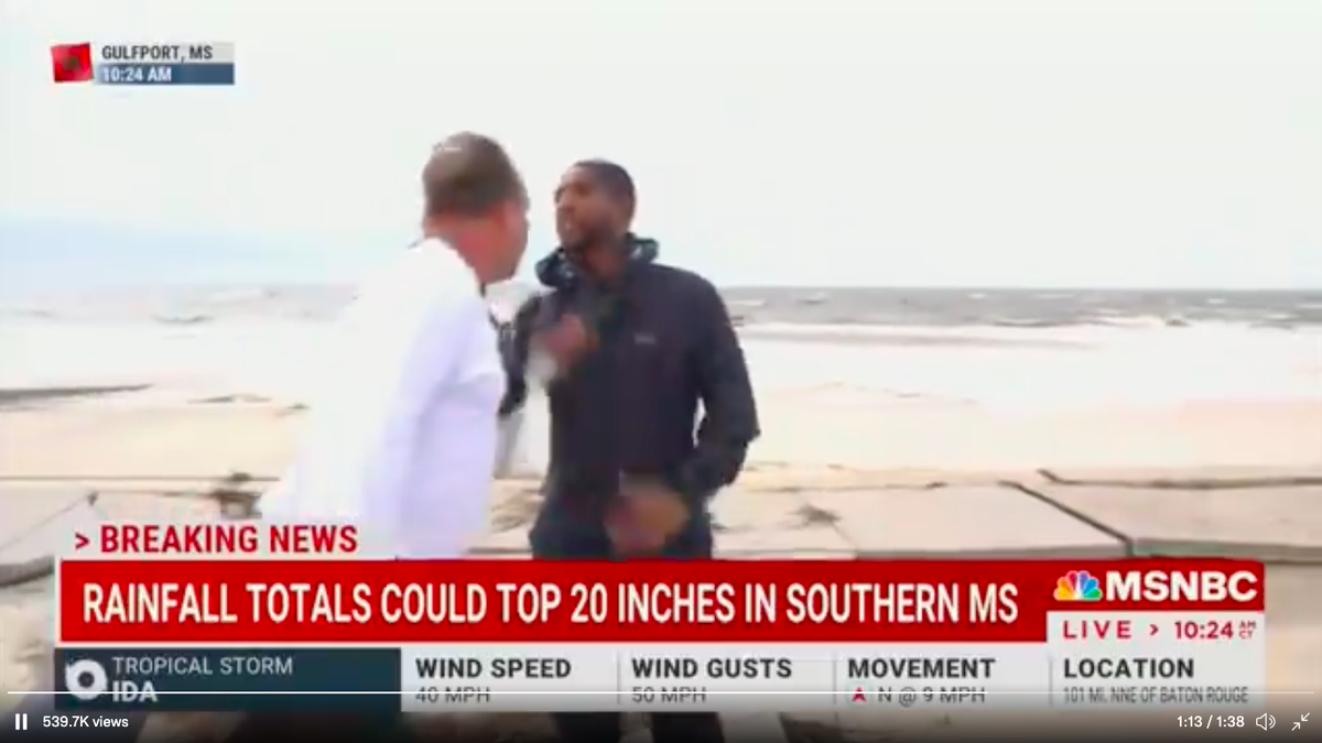 Man accosts NBC News correspondent live on air during Hurricane Ida report