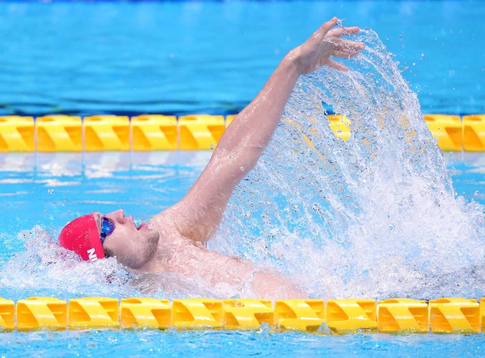 <p>Reece Dunn en route to medley gold</p>
