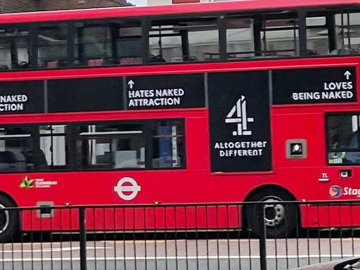 Kanaal 4 bus adverts that says some passengers 'love being naked' draws backlash