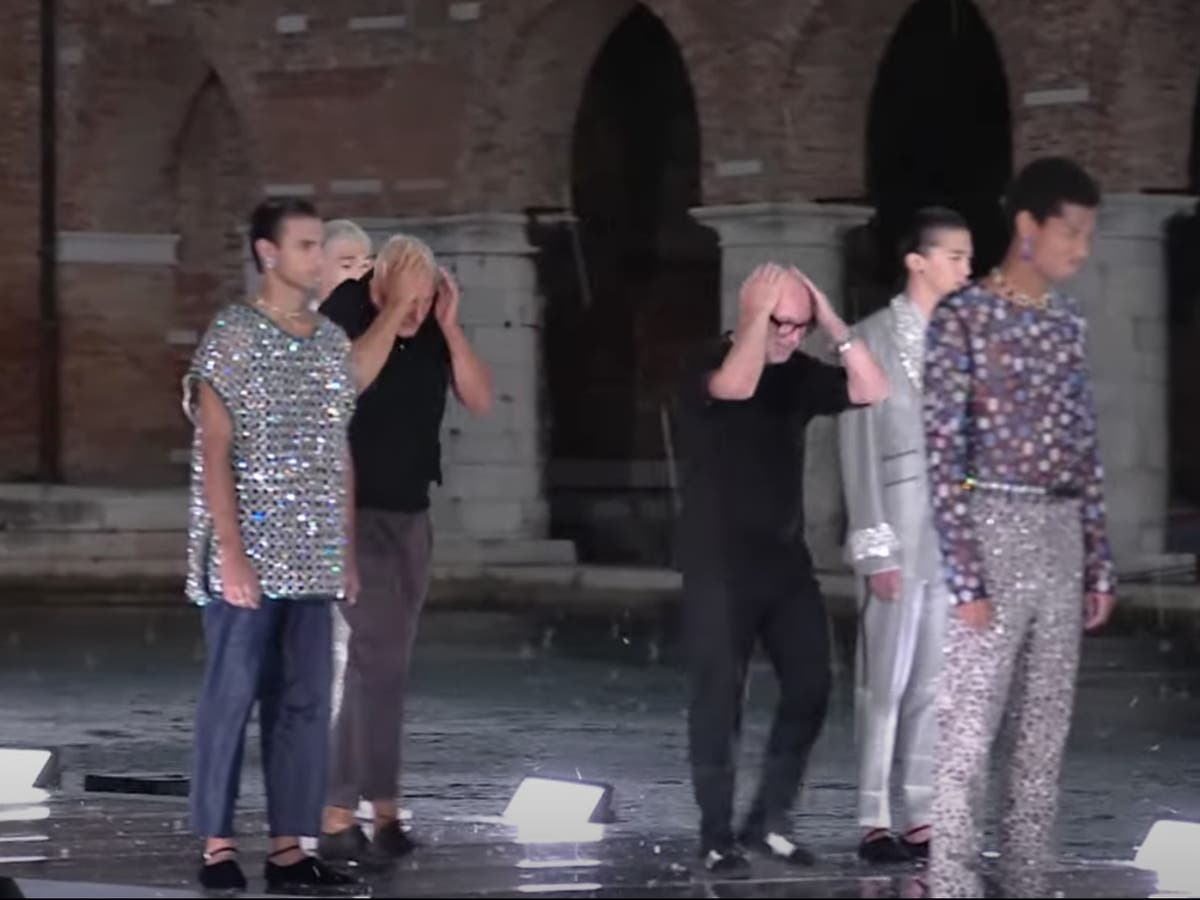 Dolce & Gabbana runway hit by freak hailstorm as guests have to temporarily evacuate