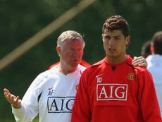 Cristiano Ronaldo sends message to Sir Alex Ferguson after Manchester United move