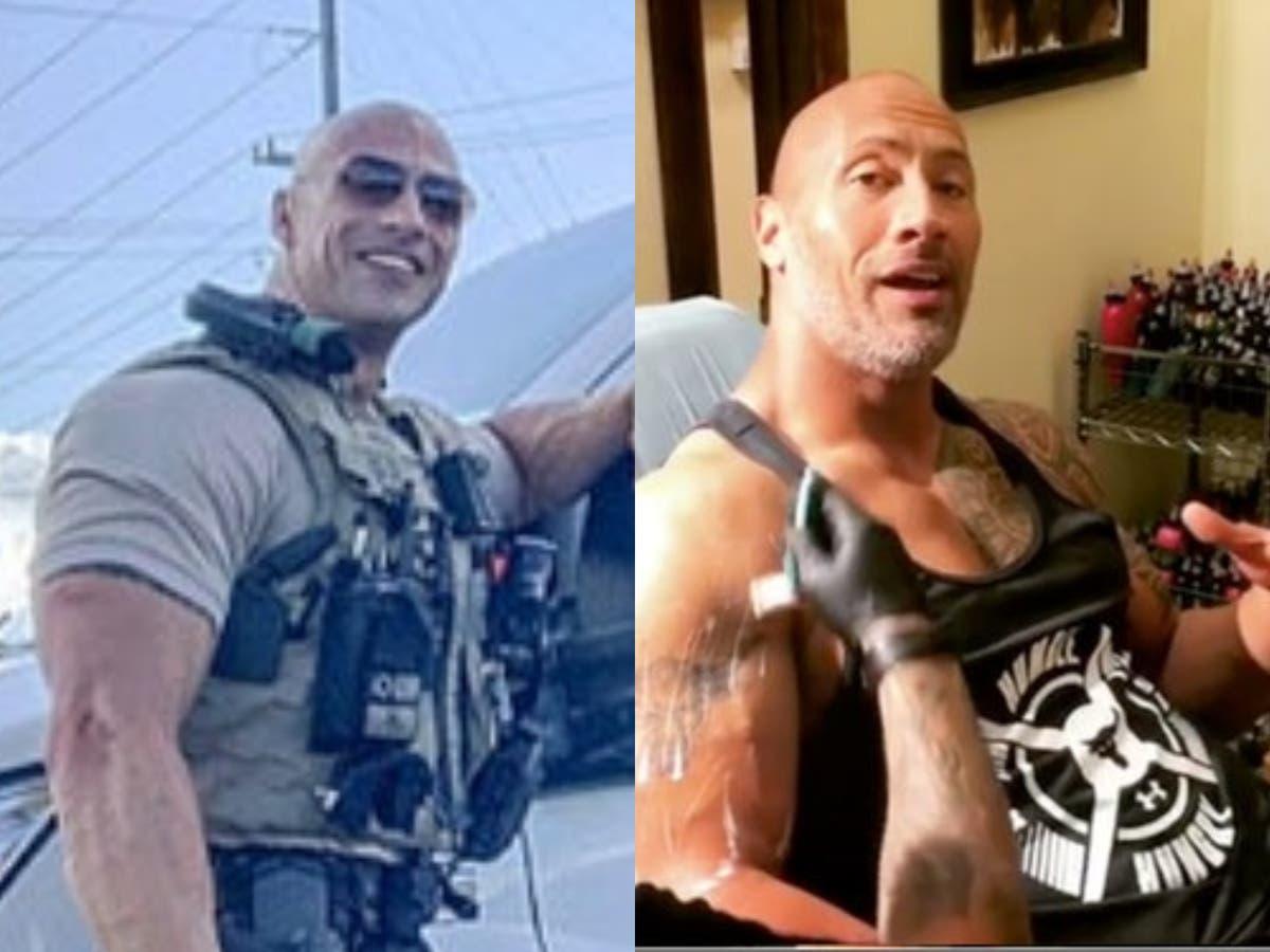 Dwayne Johnsons responds to 'identical' Alabama police officer doppelganger