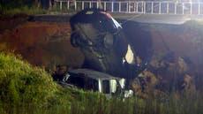 Mississippi highway collapses, 2 vermoor, ten minste 10 injured
