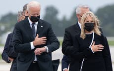 Trump attacks Biden for appearing to check watch at ceremony for dead troops
