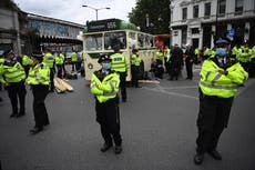 Extinction Rebellion protesters block major London bridge