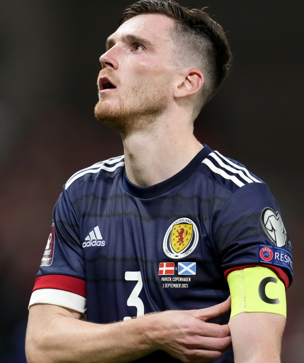 Andy Robertson admits Scotland were beaten by the better team in Denmark