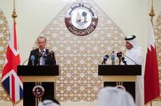 Raab calls for international coalition on Afghanistan on visit to Qatar