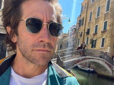 Jake Gyllenhaal spots man dressed as his Spider-Man character while in Venice