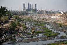 Gaza is battles deadly pollution levels as efforts are hampered by continued conflict