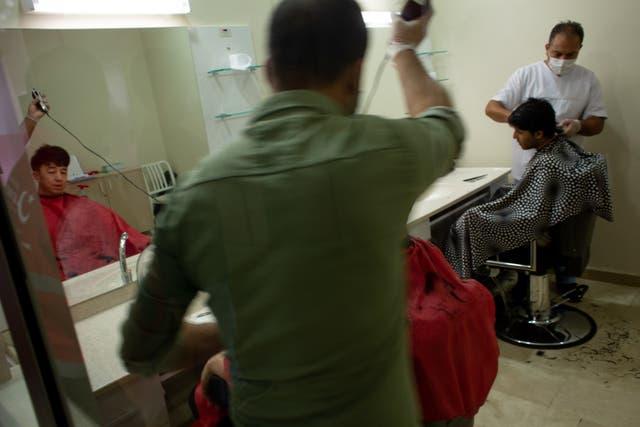 The hairdresser in the Van Deportation Centre