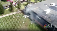Plane crashes into building in Connecticut