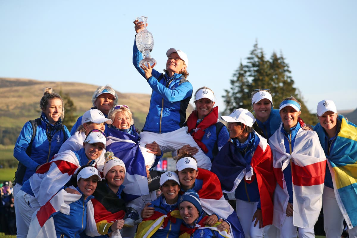 Catriona Matthew bids to add victory on US soil to home success in Solheim Cup