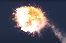Major rocket test ends in spectacular explosion minutes after launch