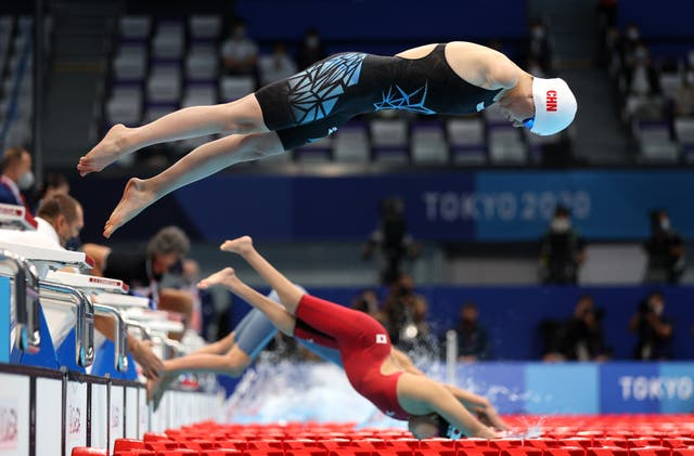 China's Dong Lu competes in the Women's 200m individual medley final at the Tokyo 2020 Paralympic Games