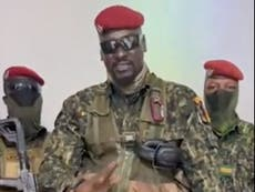 Soldiers detain Guinea's president in apparent military coup