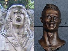 Braveheart statue unveiled in Scotland branded 'worst since Ronaldo'