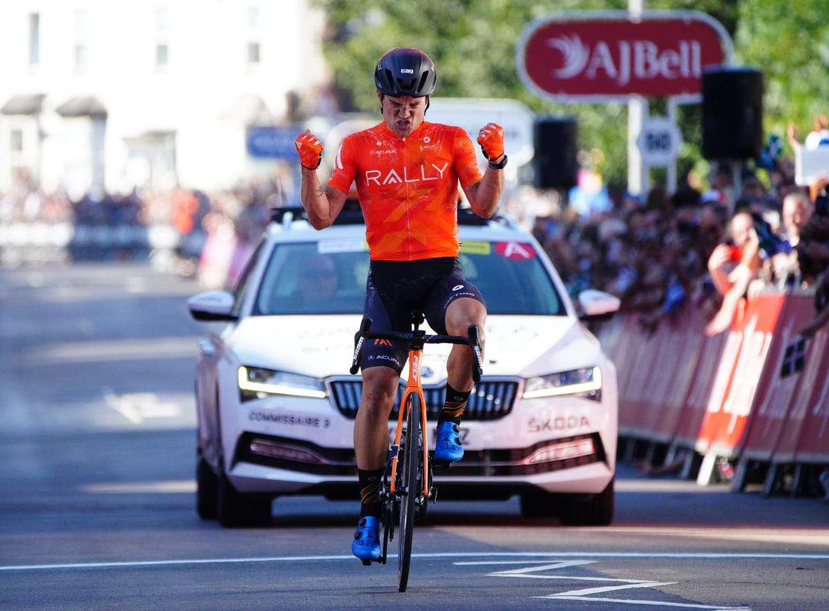 American Robin Carpenter wins the second stage of the Tour of Britain in Exeter