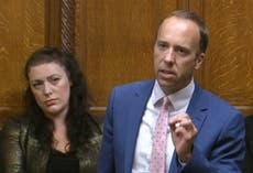 Matt Hancock laughed at upon return to parliament as he talks of 'dignity'