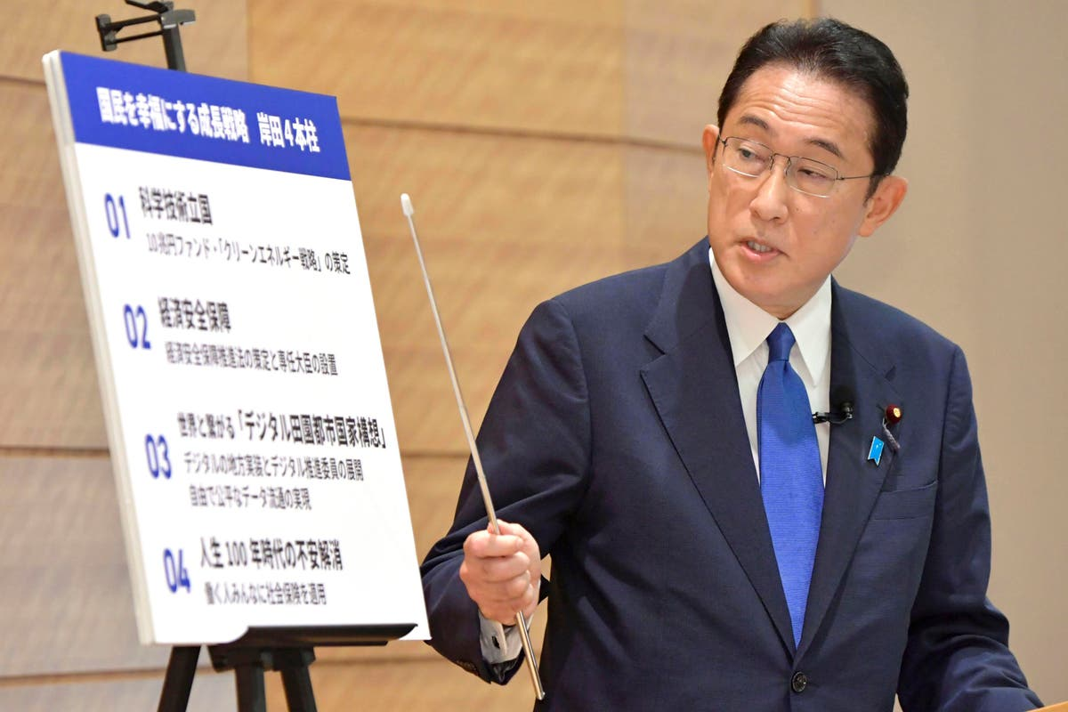 Candidate in Japan race calls for new capitalism, recovery