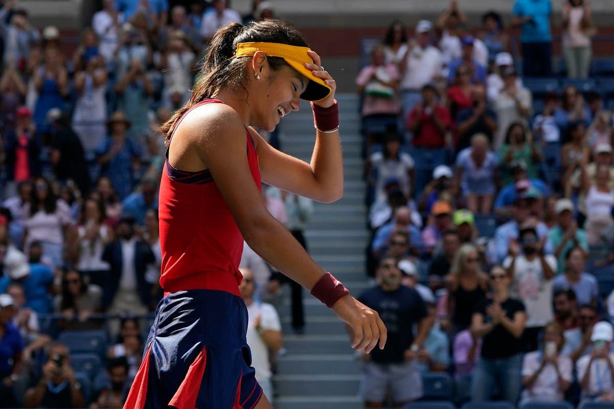 Emma Raducanu 'enjoying the experience' of unexpected US Open semi-final run