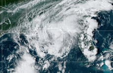 Tropical Storm Mindy forms suddenly off Florida and landfall could be imminent