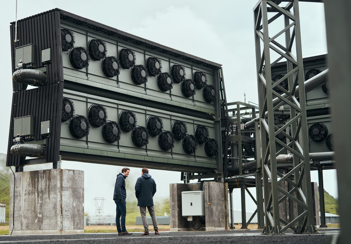World's biggest factory to suck carbon from the sky turns on in Iceland