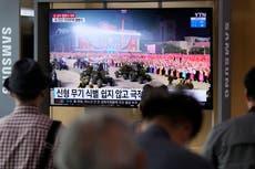 North Korea parades military hardware to celebrate founding