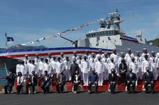 Taiwan's president commissions domestic-made naval warship