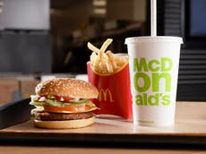 McDonald's is launching its first-ever vegan burger