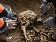 Mystery over 80 skeletons found with 'hands tied behind backs' at building site