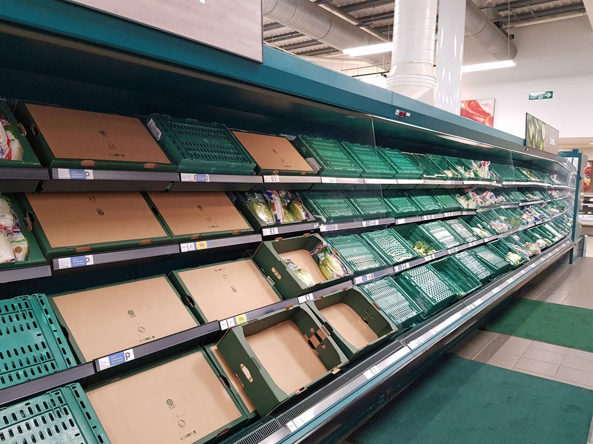 Supermarket food shortages will be over by Christmas, Downing Street says