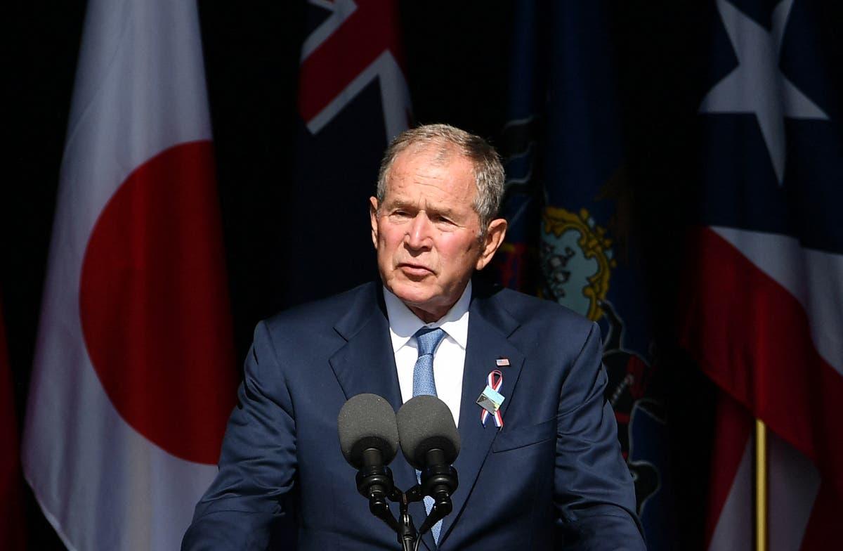 布什强调美国国内恐怖活动构成的威胁 9/11 追悼会