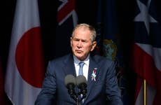 9/11 memorial news – live: Bush says US faces extremism threat 'from within', as victims' families pay tribute