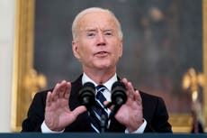 White House accused of deliberately cutting Biden audio when he goes off script on west coast tour
