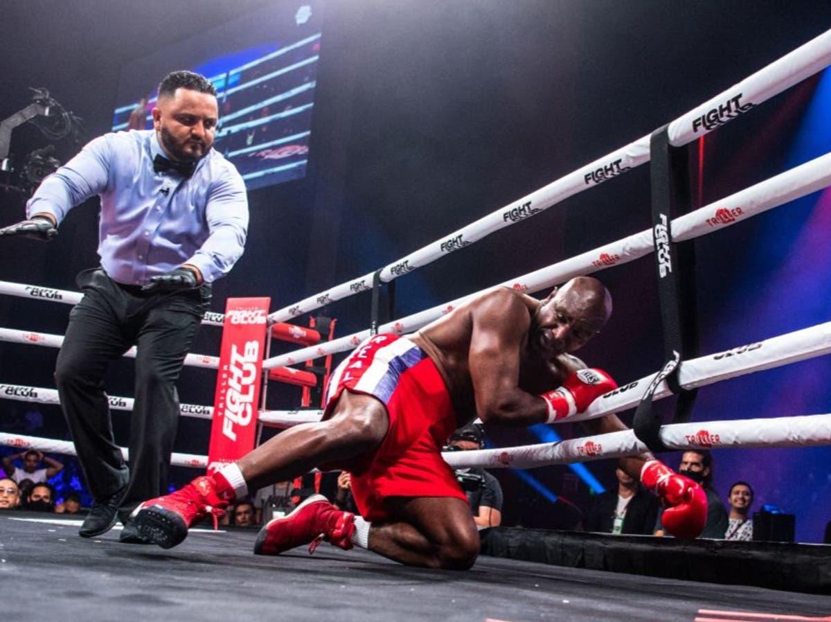 Evander Holyfield handed medical suspension after knockout defeat by Vitor Belfort