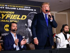Trump says boxing results 'could be rigged like elections' during bizarre turn as sports commentator