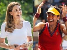 Kate Middleton congratulates Emma Raducanu on US Open win