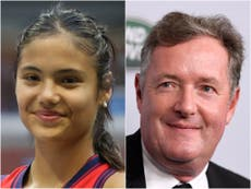 Piers Morgan accused of 'trying to take credit for' Emma Raducanu's historic US Open win