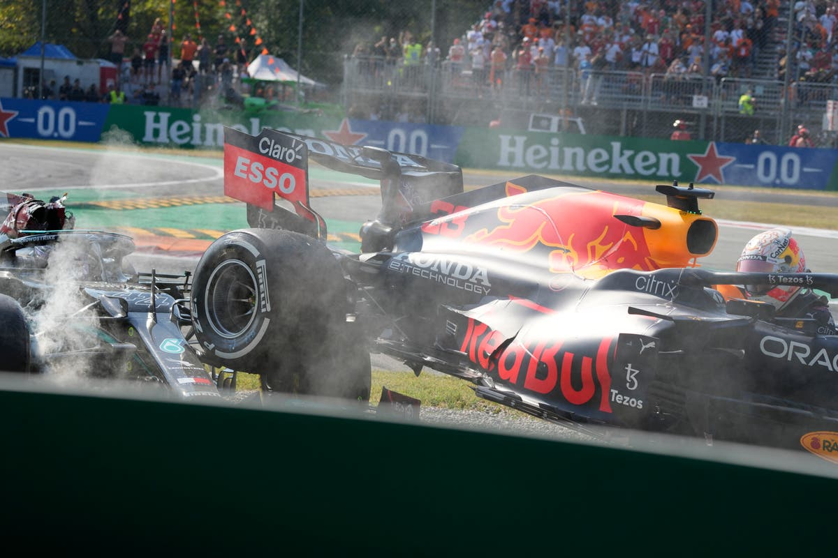 Lewis Hamilton and Max Verstappen take each other out of Italian Grand Prix